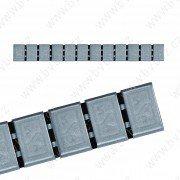 380H-BOX6ks- ŠEDÁ 60g Zn(12x5g) samolepící závaží